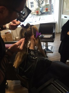 balayage hair colour, hungerford salon