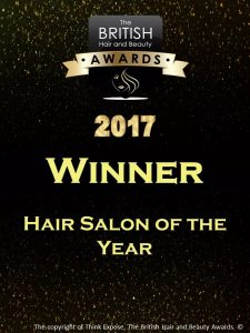 British Hair & Beauty Salon Of The Year 2017!