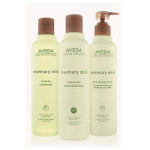 Aveda rosemary & mint range at perfectly posh hair salon