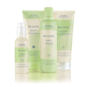 Aveda Be-Curly-hair products at perfectly posh hair salon