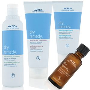 Aveda dry remedy range at perfectly posh hair salon