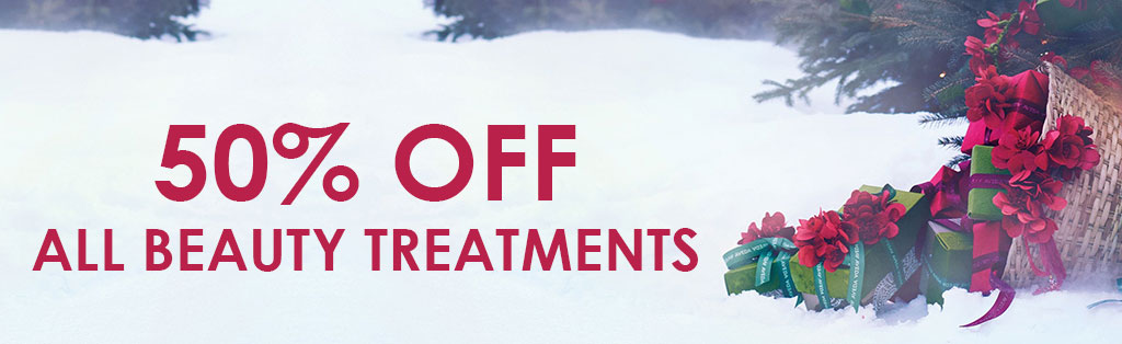 50% OFF ALL BEAUTY TREATMENTS