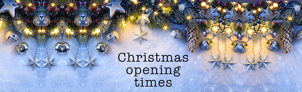 Christmas & New Year Opening Hours 2017