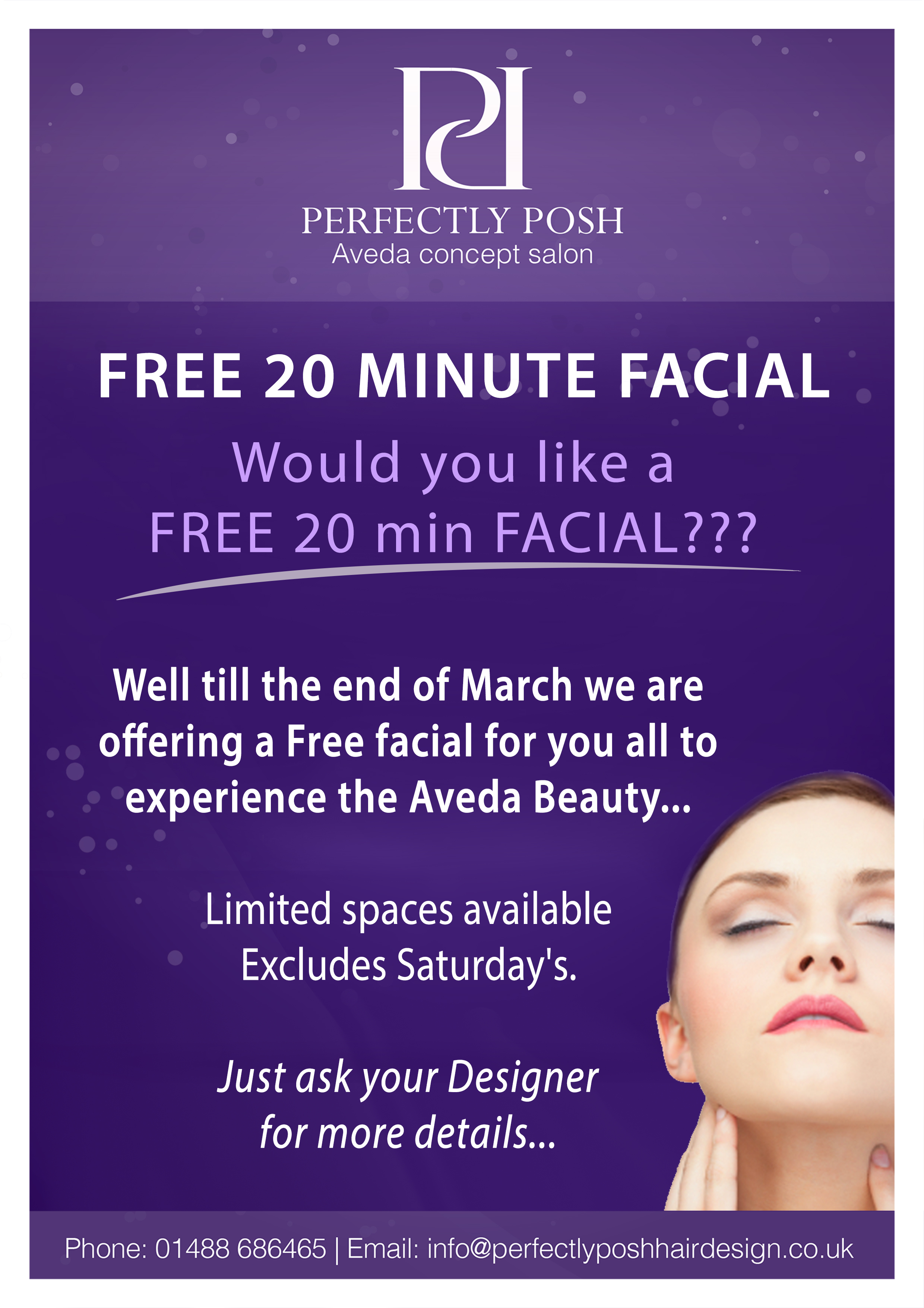 Free 20 Minute Facial