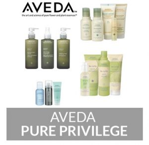 aveda PURE PRIVILEGE℠ REWARD PROGRAMME at perfectly posh hair salon in hungerford