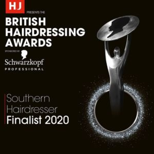 british hairdressing award finalists 2020 at perfectly posh hair and beauty salon in hungerford