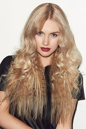 LOREAL-crimped-&-curled-hair