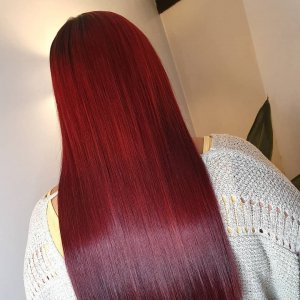 ON-TREND RED HAIR COLOURS AT PERFECTLY POSH HAIRDRESSING SALON IN HUNGERFORD, BERKSHIRE